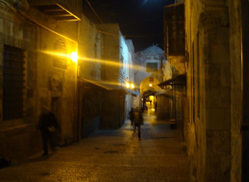 Old City Street at Night