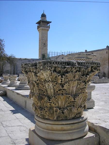 Column Capital and Minaret