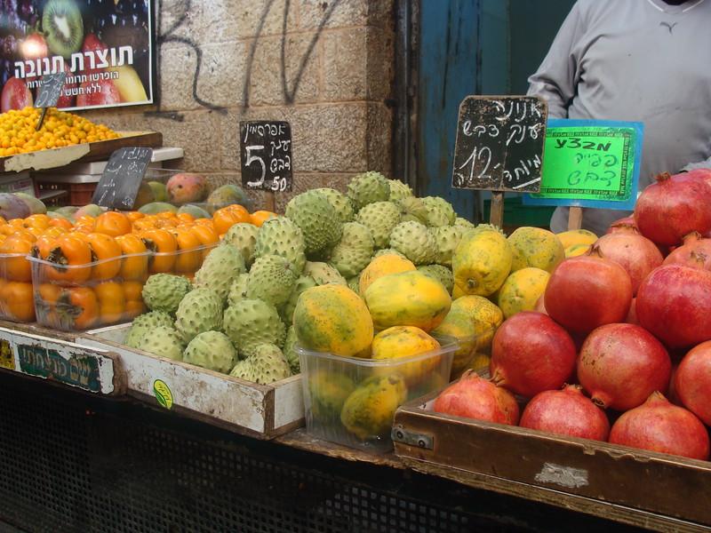 Persimmons, Cherimoya Fruit, Mangoes, and Pomegranates