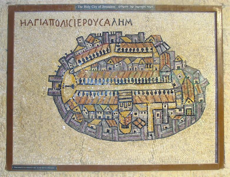 Map of the Holy City of Jerusalem