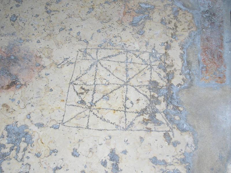 Roman Soldiers' Floor Etchings