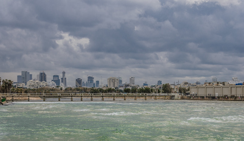 Tel Aviv in rainy day