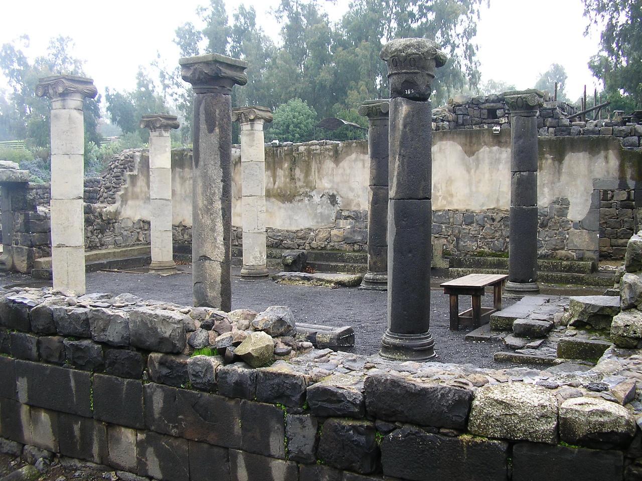 Katzrin Synagogue Pillars