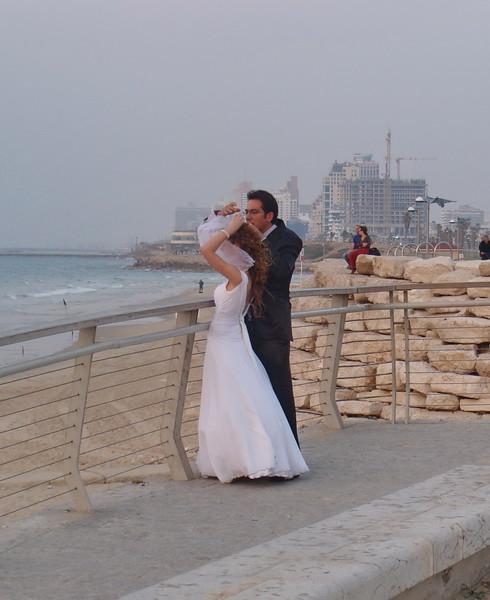 Wedding Couple at Tel Aviv Beach