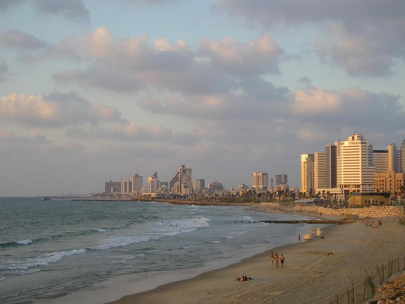 View of Tel Aviv Beach from Jaffa