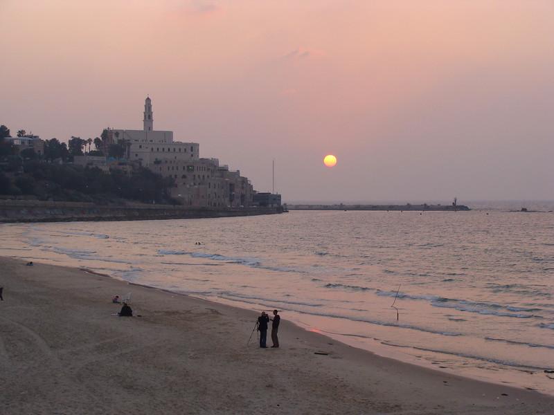 Sunset Walk along Tel Aviv Beach