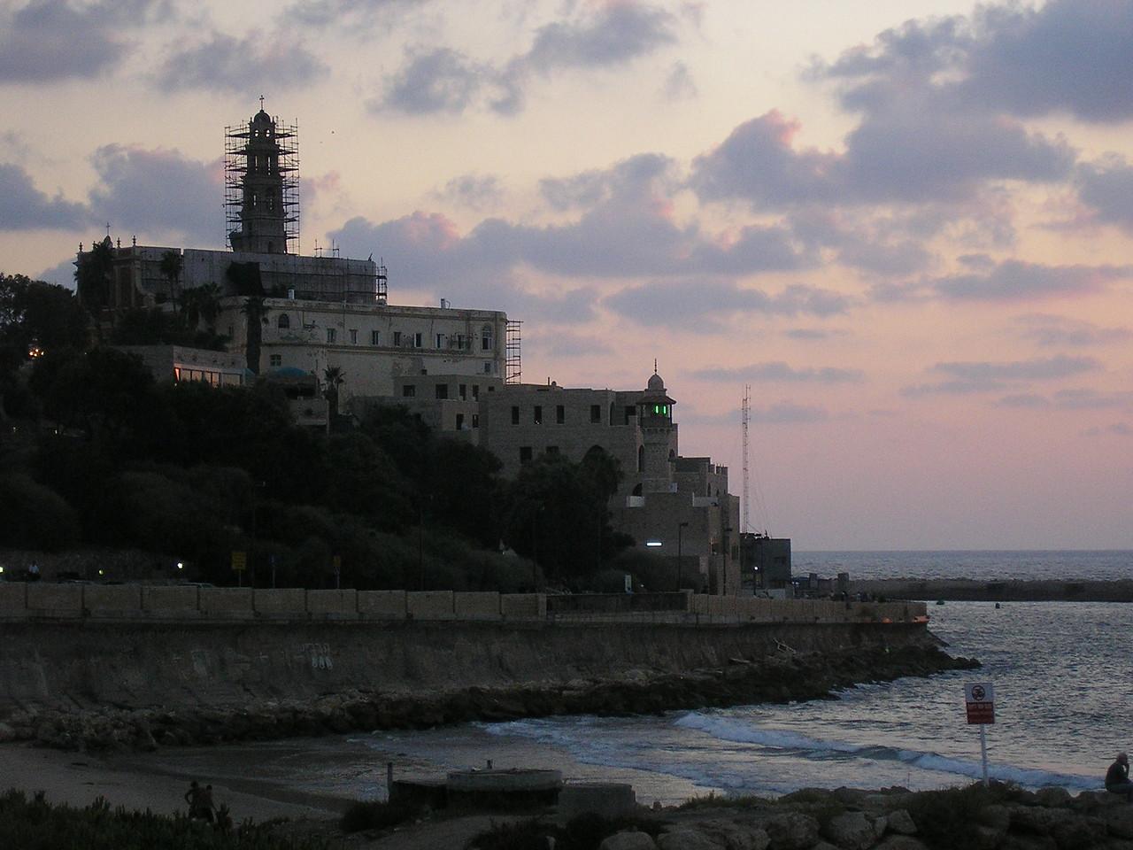 Jaffa Minaret from Tel Aviv Beach