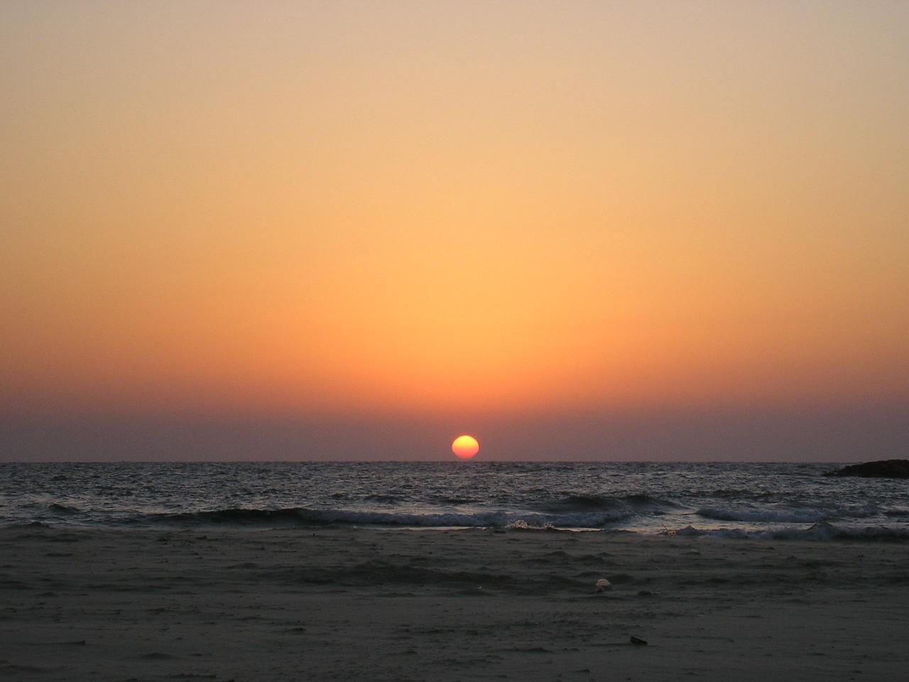 Sunset at Tel Aviv Beach