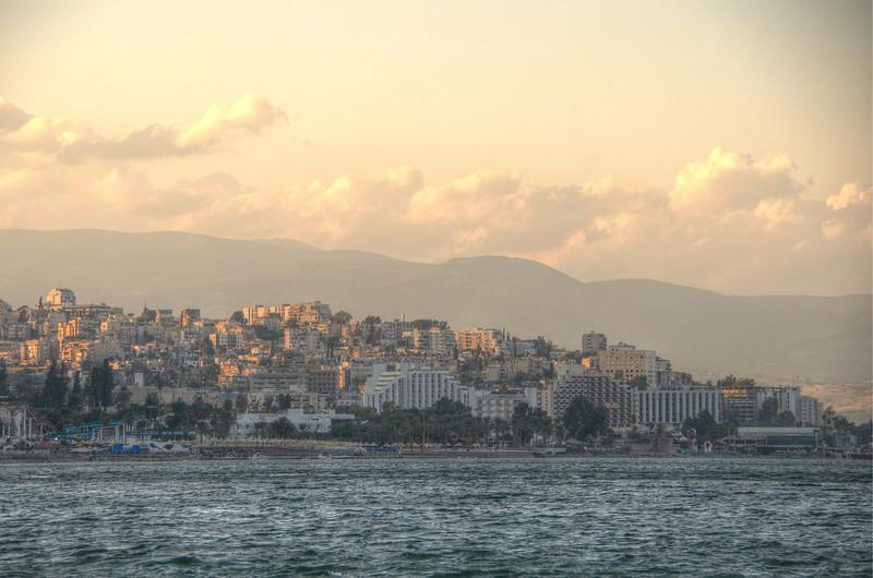 View on Tiberias, Sea of Galilee (Lake Kineret)