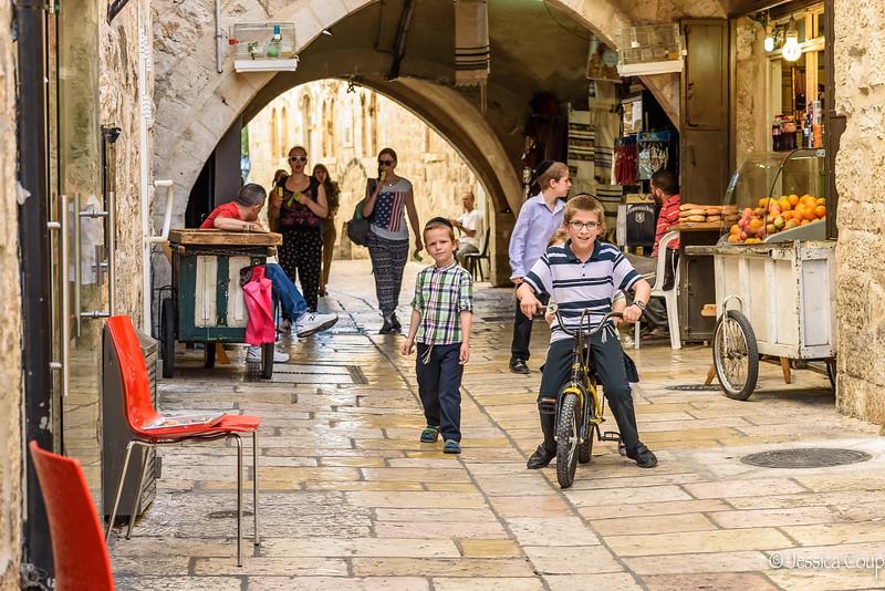Biking in the Old Town