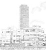 Building in Tel Aviv, pencil