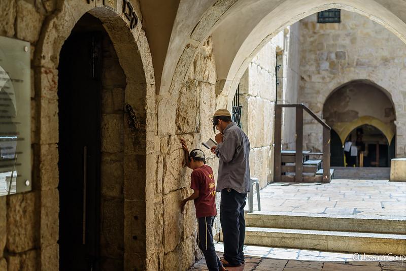 Praying Outside King David's Tomb