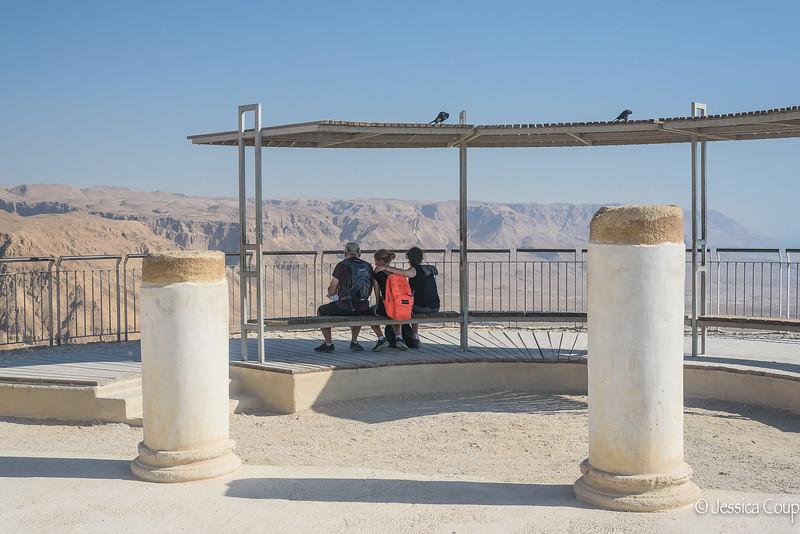 A Moment of Reflection at Masada