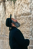 An Orthodox Jew praying at the Western Wall in Jerusalem, Israel.