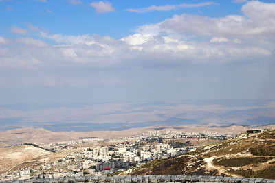 from Mt. Scopus eastwards