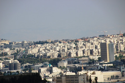 From Nebi Samuel to north Jerusalem and the Dome of the Rock