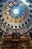 Interio of the Church of the Holy Sepulchre in the old city of Jerusalem, Israel, Middle East.