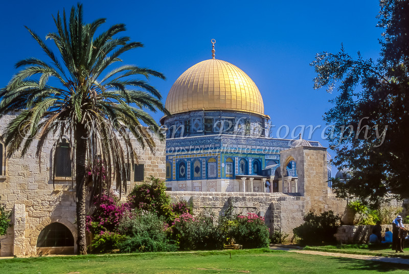 The Dome of the Rock on the Temple Mount in Jerusalem, Israel.