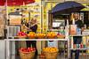 A fruit juice shop along on the street along the Via Dolorosa in Jerusalem, Israel, Middle East.