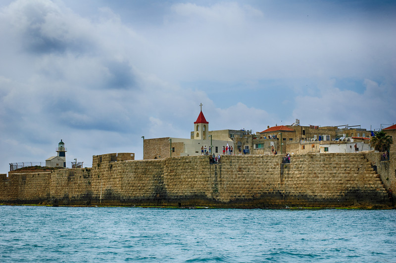 View on Akko from sea