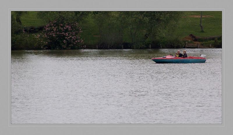 Walk on motor boat.