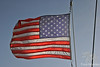 American Flag on boat trip on Sea of Galilee