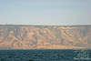 Golan Heights from Boat on Sea of Galilee