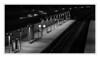 Railway station at night.