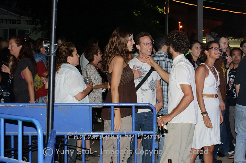 White night in Tel Aviv. Young people.