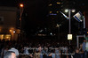 White night in Tel Aviv. The sea of people.