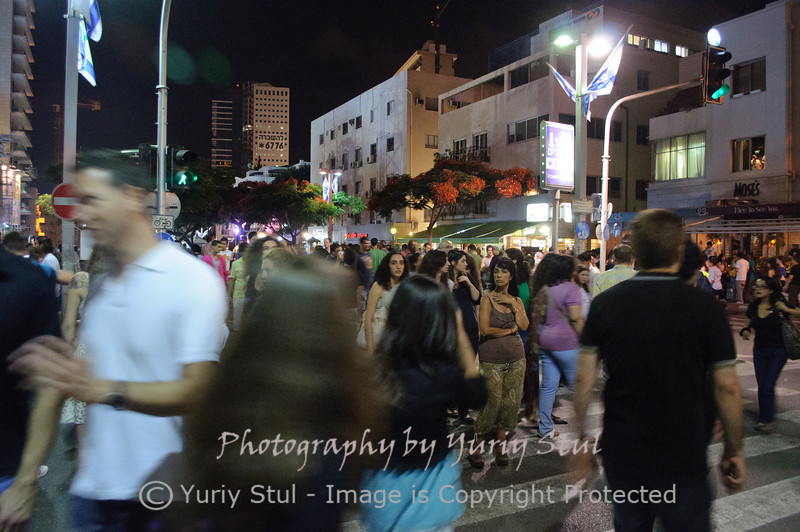 White night in Tel Aviv