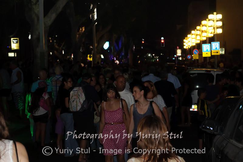 White night in Tel Aviv