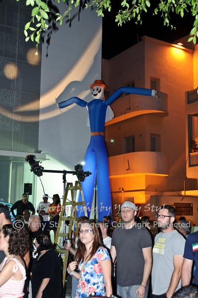 White night in Tel Aviv. Air man.