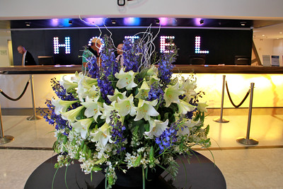 Gorgeous flower arrangement in lobby of the Dan Panorama