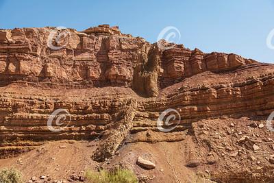Diagonal Magmatic Dike in the Makhtesh Ramon Crater in Israel