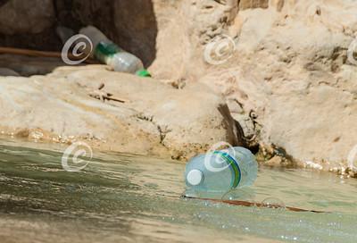 Plastic Bottle Pollution in Nahal David