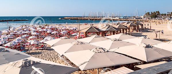 Tel Aviv Israel Marina from Gordon Beach Promenade Overlook