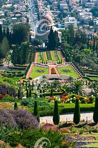 The Bahai Temple and Gardens in Haifa in Israel