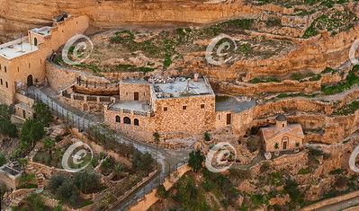 Lower East Secton of Saint George's Monastery in Wadi Qelt in the West Bank