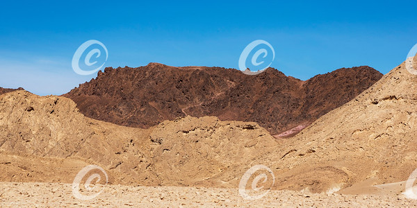 The Israel National Trail Snaking Down Shen Ramon in the Makhtesh Ramon Crater
