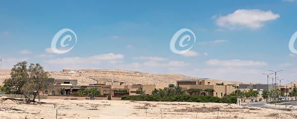New Residential Construction Blends into the Surronding Desert