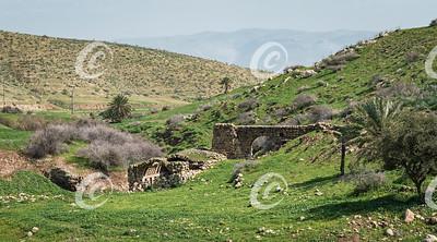 Ruins of an Ottoman Era Flour Mill in the Jordan Valley