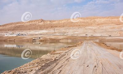 New Resort Beach Under Construction in Ein Boqeq on the Dead Sea in Israel