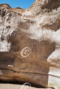 Marble-Like Limestone Cliff in Nahal Nekarot in the Ramon Crater in Israel