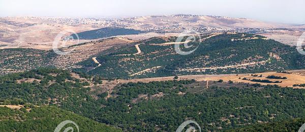 Border Between Lebanon and Israel from Adir Mountain in Israel