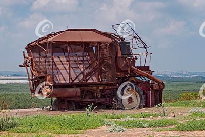 Abandoned Antique Cotton Picker on a Kibbutz in Israel