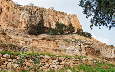 Ruins of an Ancient Greek Church Lie below the Faran Monastery in Wadi Qelt