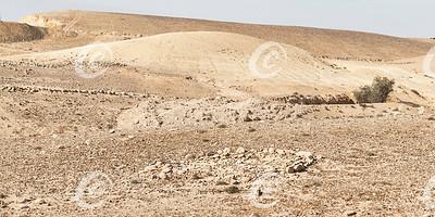 Ancient Stone Circle and Water System near Arad, Israel