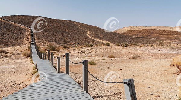 HaMinsara aka the Carpentry in the Makhtesh Ramon Crater in Israel