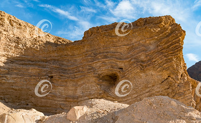 Natural Abstract Rock Formation in the Eilat Mountains in Israel